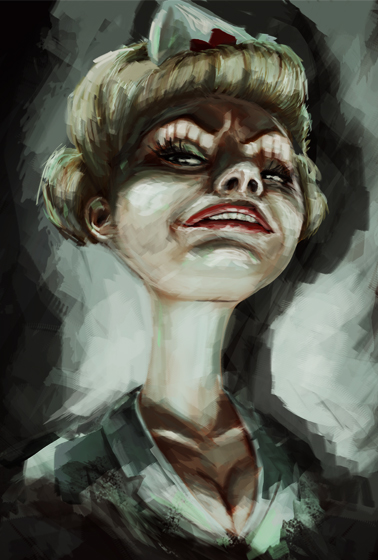 charakterdesign nurse creepy