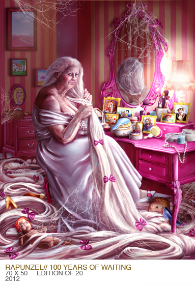 Rapunzel Digital art Gordana Ristic LowBrow